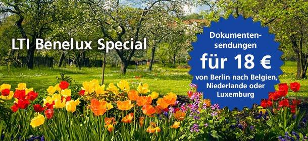 LTI Benelux Special Dokumentsendungen für 18 Euro von Berlin nach Belgien, Niederlande oder Luxemburg