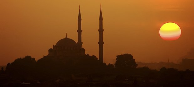 Sonnenuntergang / Silhouette Istanbul