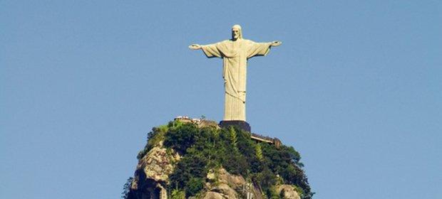 Christusstatue auf dem Berg Corcovado in Rio De Janeiro