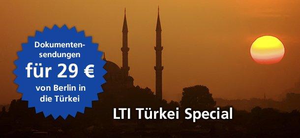 LTI Türkei Special Dokumentsendungen für 29 Euro von Berlin in die Türkei